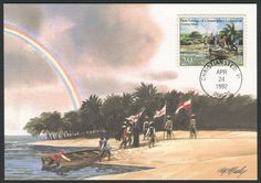 United States FDC Scott #2623 (24 Apr 1992) First Voyage of Christopher Columbus: Coming Ashore.