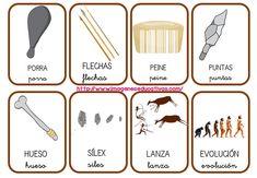 vocabulario-prehistoria-4 Teaching History, Home Schooling, Social Science, First Grade, Bingo, Social Studies, Montessori, Homeschool, Language