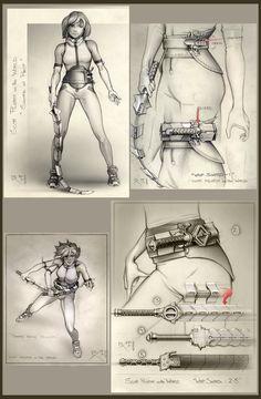 Whip Sword early concept. ' Scott pilgrim vs the World ' Pencil & Photoshop -2009