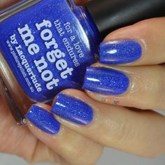 piCture pOlish Forget Me Not