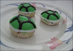 Koopa Shell Cookies. Slightly crunchy, delightfully buttery cookies dipped in bright royal icing.
