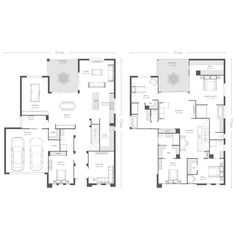 Explore over 60 single and double storey house plans. Each home design allows you to view facade options, minimum lot width, personalise your floorplan… House Layout Plans, Dream House Plans, Modern House Plans, House Layouts, House Floor Plans, Pool House Designs, New Home Designs, Home Design Plans, Double Storey House Plans