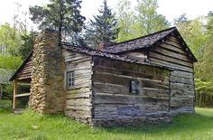 Cabin in The Woods w/ a Stone Chimney