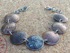 Armbänder - Armband aus alten ONE-CENT(USA) - ein Designerstück von schmuck-checker bei DaWanda