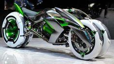 Kawasaki apresenta conceito de motocicleta mutante na Tokyo Motor Show 2013.