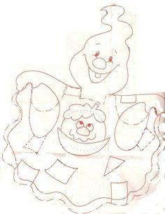 Gabarit - Fantome d'halloween