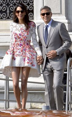 George Clooney & Amal Alamuddin Look So Happy as a Married Couple After Wedding