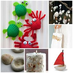 Over 20 Sea Shell Crafts for you and the kids.