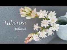 How to make a Gumpaste Tuberose Flower Tutorial - YouTube