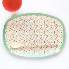 軽くて使いやすい北欧のおしゃれなメラミンのトレイ/riceメラミントレイコネクティングドット