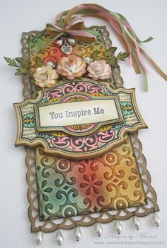 Designs by Marisa: JustRite Papercraft Friday Challenge - You Inspire Me Tag