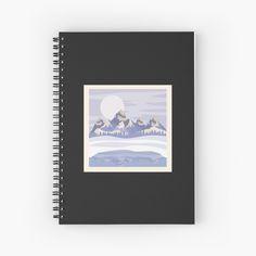 My Notebook, Canvas Prints, Art Prints, Mountain Range, Winter Day, Ranges, Landscape Design, Spiral, Finding Yourself