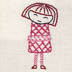 little red embroidery pattern #free #embroidery #diy #crafts