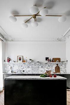 WORKSHOP GREEN STREET blog: Paris / apartment of 180 sqm ultra chic /