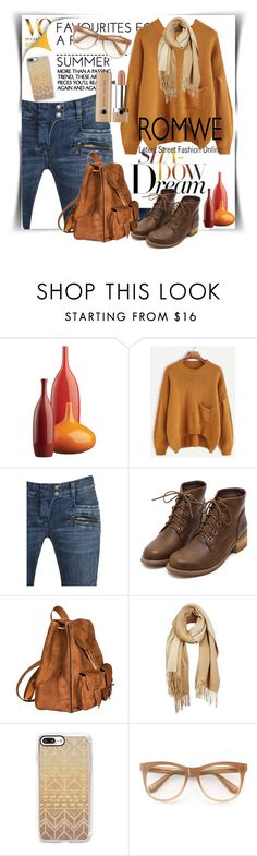 """""""Romwe set"""" by lindaking67 ❤ liked on Polyvore featuring CB2, Balmain, Yves Saint Laurent, Unpaired, Casetify and Wildfox"""