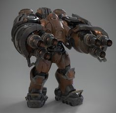 Robot Concept Art, Armor Concept, Robot Art, Combat Armor, Military Armor, Starcraft 2, Sci Fi Armor, Stars Craft, Suit Of Armor