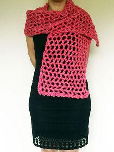 Scarf, Christmas, Gifts, High fashion, Scarves,  Autumn, Winter, Handmade, Homemade, Modern scarf, Crochet scarf patterns, Crochet, Women, Girls, Warm, Sweater on Etsy
