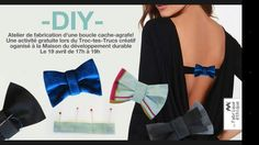 DIY (photo only) - make a bow to hide your bra clasp when wearing a backless shirt