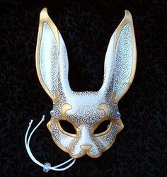 Venetian Rabbit Mask V4... handmade leather rabbit mask. $140.00, via Etsy.