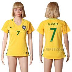 http://www.xjersey.com/201617-brazil-7-dcosta-home-women-soccer-jersey.html Only$35.00 #2016-17 BRAZIL 7 D.COSTA HOME WOMEN SOCCER JERSEY #Free #Shipping!