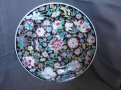 Zhongguo Jingdezhen Black Floral Dinner Plates 3 Made In China Pink Rare Pattern #ZhongguoJingdezhen