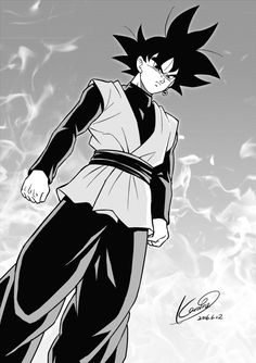 DB Super - GOKU BLACK by karoine on @DeviantArt