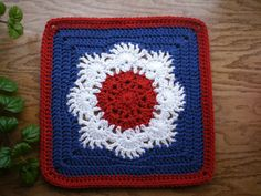 Ravelry: Project Gallery for Spring Fling Square pattern by April Moreland Crochet Ripple, Granny Square Crochet Pattern, Afghan Crochet Patterns, Crochet Afghans, Crochet Squares, Crochet Granny, Granny Squares, Crochet Motif, Crochet Blankets