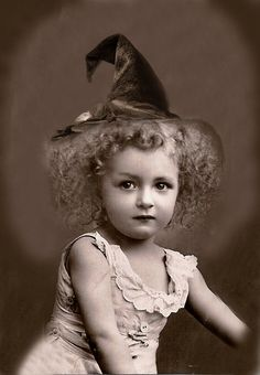 <3  ☆ Vintage Wee Witch Child :¦: Unknown Photograph ☆                                                                                                                                                                                 More