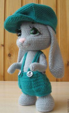 Купить Мастер класс Зайчик-хулиганчик - серый, мастер-класс, зайка, заяц, вязание крючком