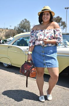 45 Cute Spring Outfits 2019 for Plus Size Women – Best Fashions for All Denim Skirt Outfit Summer, Jean Skirt Outfits, Plus Size Summer Outfit, Plus Size Holiday Outfits Summer, Look Plus Size, Plus Size Jeans, Plus Size Dresses, Plus Size Outfits, Plus Size Sommer