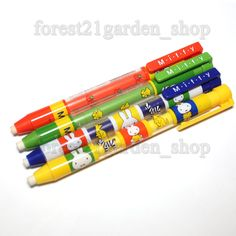 x4 Dong-a Miffy  Refilable Eraser Holder pen - 4 Body Color - 1 Sets #Donga