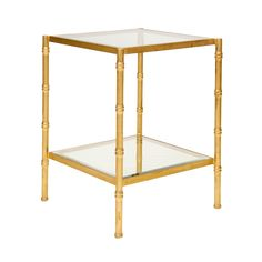 Worlds Away | Gold Leaf Bamboo Side Table #TheDesignNetwork #ShopTDN #glam #glamdecor