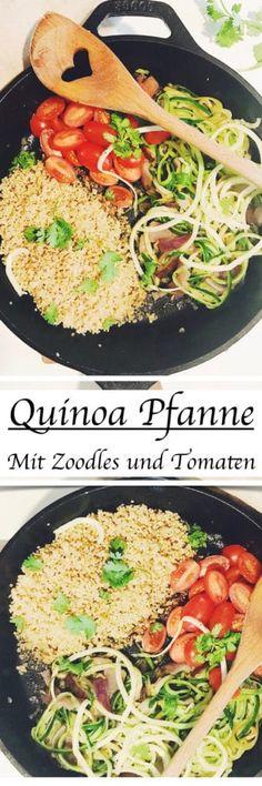 #gesund und #lecker: Quinoa Pfanne mit Zoodles. #rezept #lowcarb
