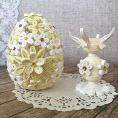 Velikonoční vajíčko a svícen * quilling