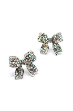 Crystal Bow Earrings in Iridescence. I've gotten so many compliments on these!