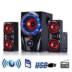 beFree Surround 2.1 Channel USB/SD/FM/Bluetooth Speaker System+ Remote Control  #BefreeSound