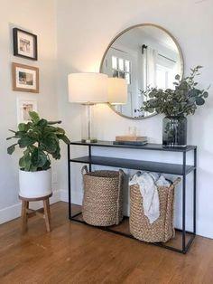 Home Living Room, Living Room Designs, Living Room Decor, Bedroom Decor, Entryway Decor, Modern Entryway, Flur Design, Hallway Designs, Home Decor Inspiration