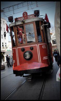 Istanbul nostalgic Taksim tram