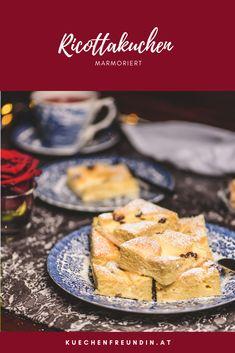 Ein schnell gemachter Ricottakuchen mit zwei einfachen Teigen. Hallo Winter, Foodblogger, Snacks, Post, French Toast, Sweets, Breakfast, Finger Food, Chocolate
