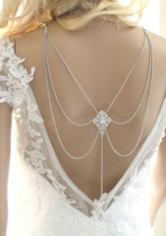 Bridal backdrop necklace Statement necklace Bridal jewelry