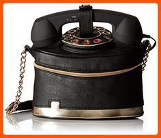 Betsey Johnson Telephone Cross Body Bag, Black, One Size - Little daily helpers (*Amazon Partner-Link)