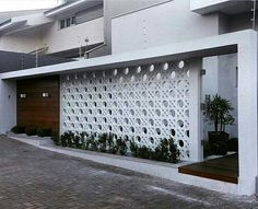 Top Choices of Dream House Architecture Exterior Wall Design, Modern Exterior, House Gate Design, Fence Design, Decorative Concrete Blocks, Breeze Block Wall, Compound Wall Design, Tor Design, Boundary Walls