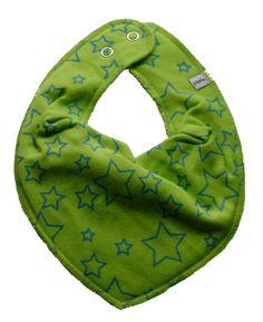 Babero verde de estrellas