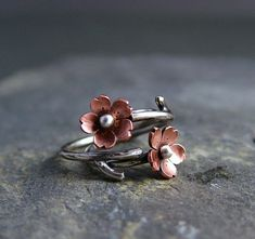 Cherry Blossom rama anillos joyas de primavera por HapaGirls