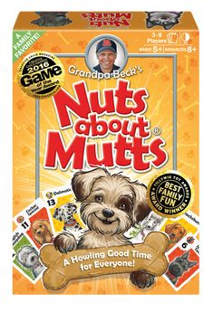 Grandpa Beck's Nuts About Mutts Card Game - A Fun Family-Friendly Hand-Elimination Game - Enjoyed by Kids, Teens, and Adults - from The Creators of Cover Your Assets - Ideal for Players Ages Family Card Games, Card Games For Kids, Fun Wedding Games, Playing Card Games, Bee Cards, Dog Games, Thing 1, Adult Games, Family Game Night
