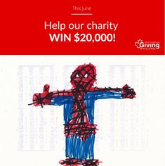 Web, web, web! Look who's got donor super power! Thank you for helping Children's Design International Collection win a big prize. #GivingChallengeCA #CDIC_CIDE #CdicOrg Helping Children, Giving, Super Powers, Charity, Challenges, Big, Collection