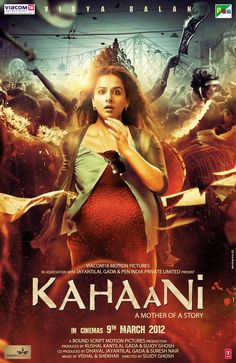 """KAHAANI (2012 - Hindi)  Directed by Sujoy Ghosh; starring Vidya Balan, Parambrata Chattopadhyay, Nawazuddin Siddiqui. With a tight script from Sujoy & Advaita Kala, superb performances from """"Bidya"""" Balan & the supporting cast, a haunting background score by Clinton Cerejo and a memorable life insurance agent-cum-assassin in Saswata Chatterjee's Bob Biswas, this movie forces you to delay your visit to the loo. Literally! ;)"""