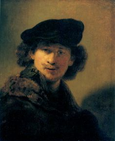 Self-portrait with beret - Rembrandt