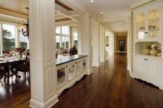 Open plan dining room and hall