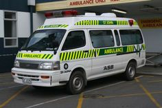 Originally purchased as a used Japanese ambulance for the Pleasant Point station following their upgrade to full ambulance status it was transferred to Fairlie. It was photographed at Timaru in November 2012.  Timaru nel Timaru, Canterbury